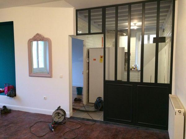 fabrication de verri re int rieure m tallerie sur valence valette metallerie. Black Bedroom Furniture Sets. Home Design Ideas